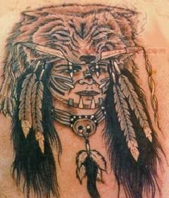 Tattoo Native American Woman