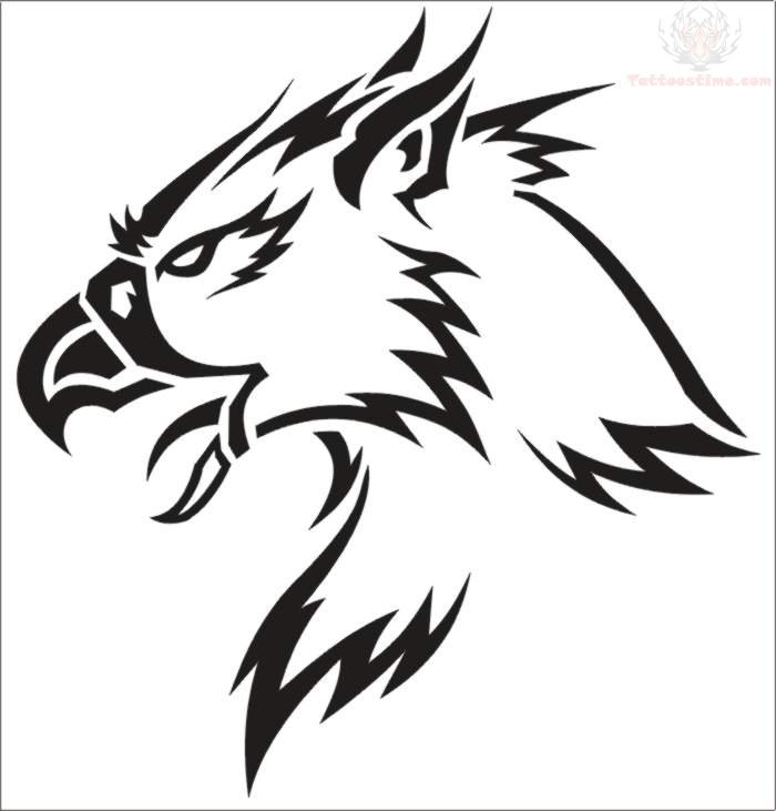 Digital Griffin Tattoo Design
