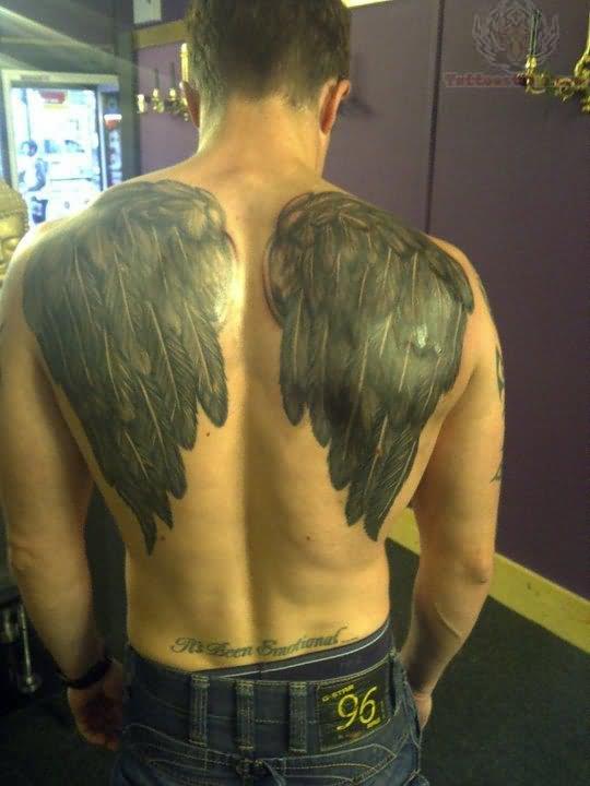 angel wings tattoos body