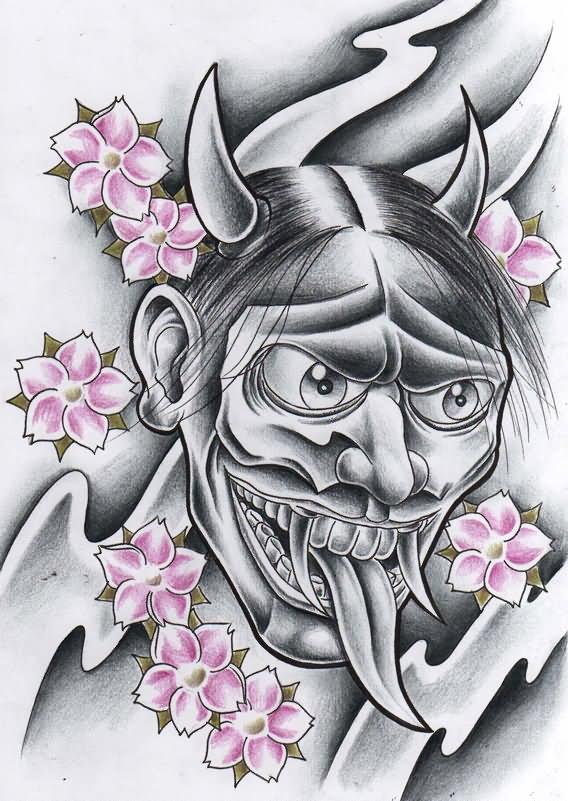 Japanese Oni Tattoo Designs