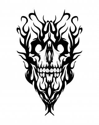 Tribal Evil Tattoo Design
