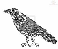 Celtic Crow Tattoo Images & Designs