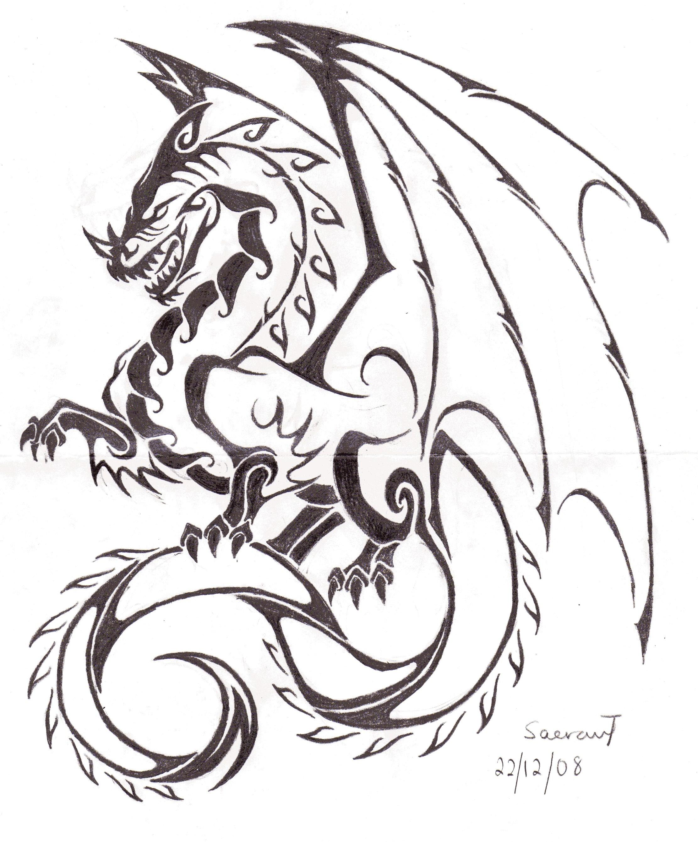 Dragon Tattoo Images & Designs