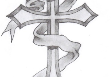 Simple Cross Tattoo Designs