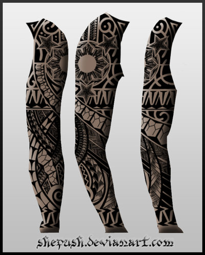 Polynesian Sleeve Tattoo Designs