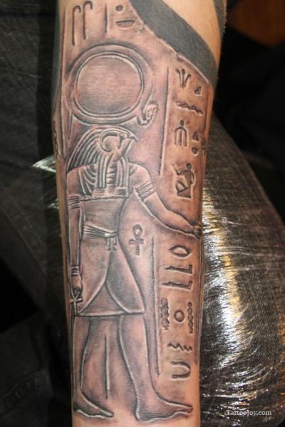 beautiful forearm egyptian tattoo