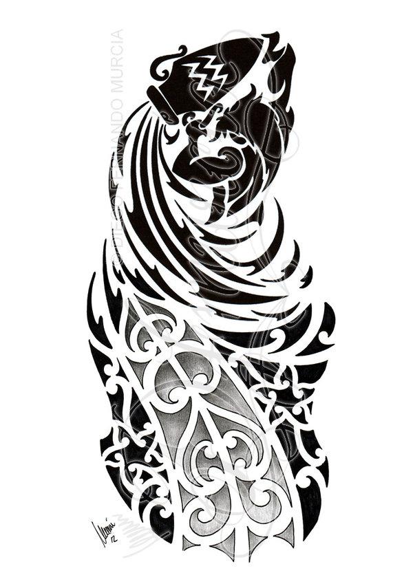 Aquarius Tattoo Images & Designs