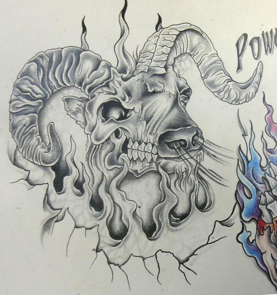Half Aries And Taurus Zodiac Tattoo Design