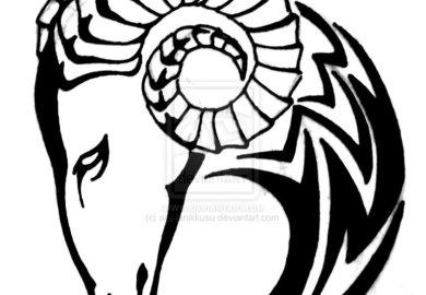 Tribal Aries Tattoo Designs