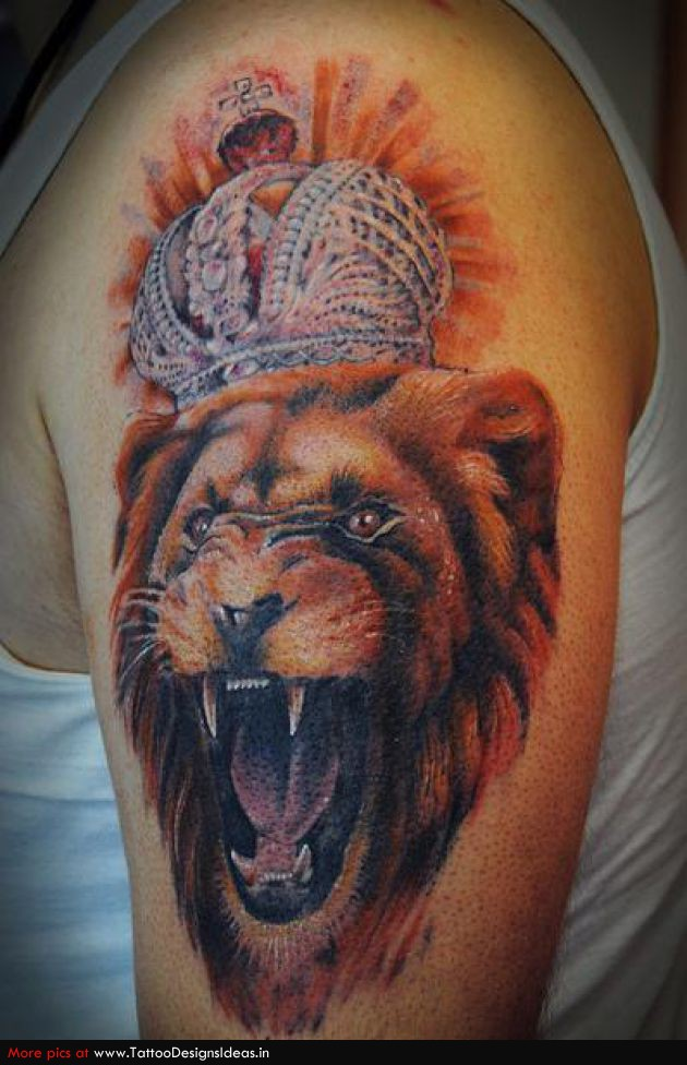 Roaring Lion Tattoo Sketch