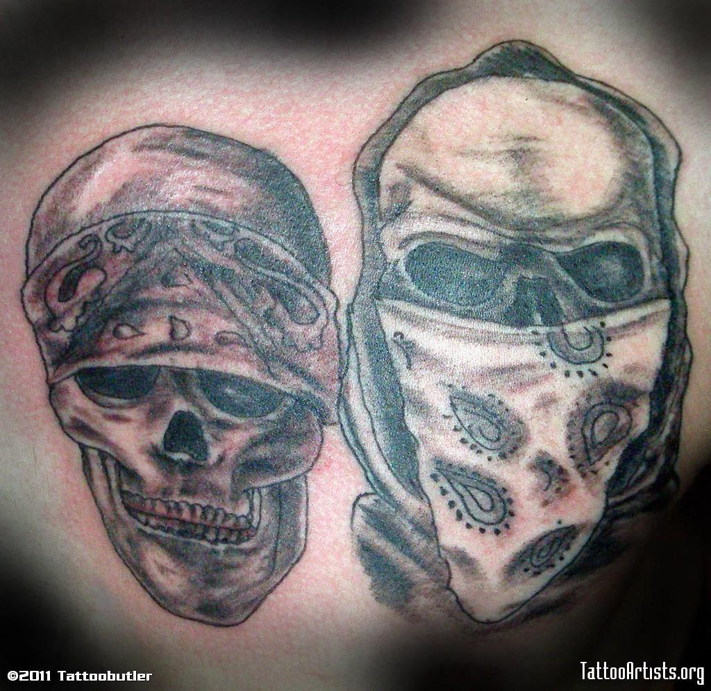 Gangster Joker Skull Tattoo Designs