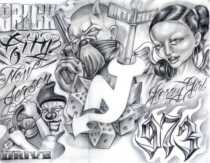 Gangster Mexican Tattoo Drawings