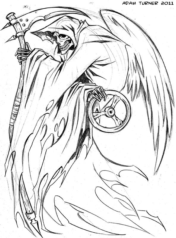 Grim Reaper Tattoo Images & Designs