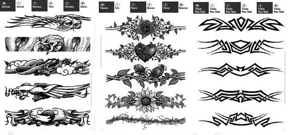 Best Grey Ink Tribal Armband Tattoos Design