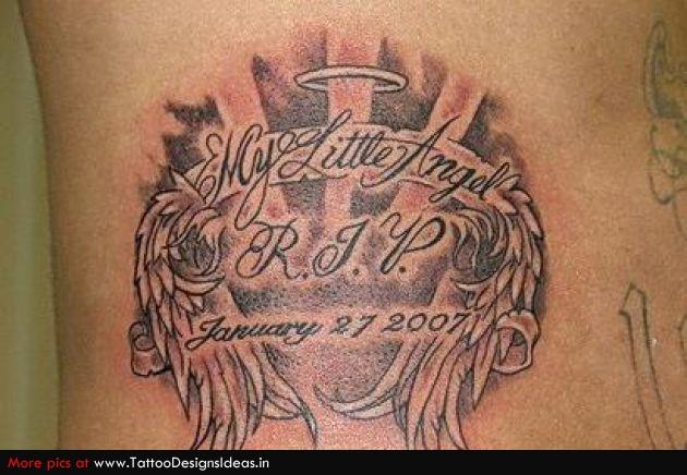 Rip Baby Angel Wing Tattoos