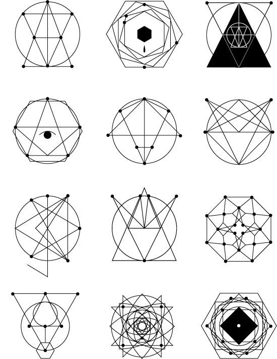 Cool Geometric Tattoos Designs
