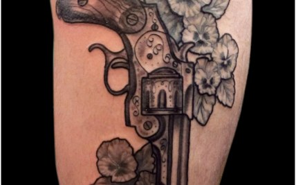 6891b288b Gun Tattoo with Flowers | Gardening: Flower and Vegetables