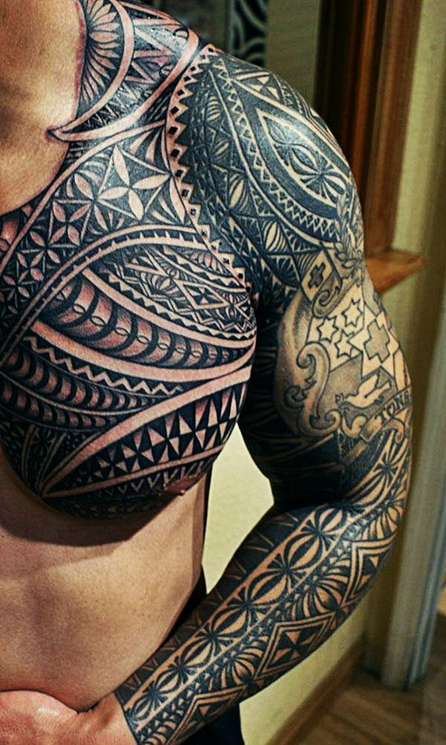 awesome black ink maori tribal