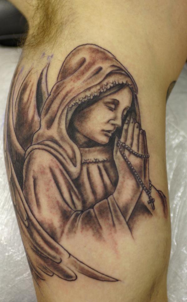 praying angel tattoo & design