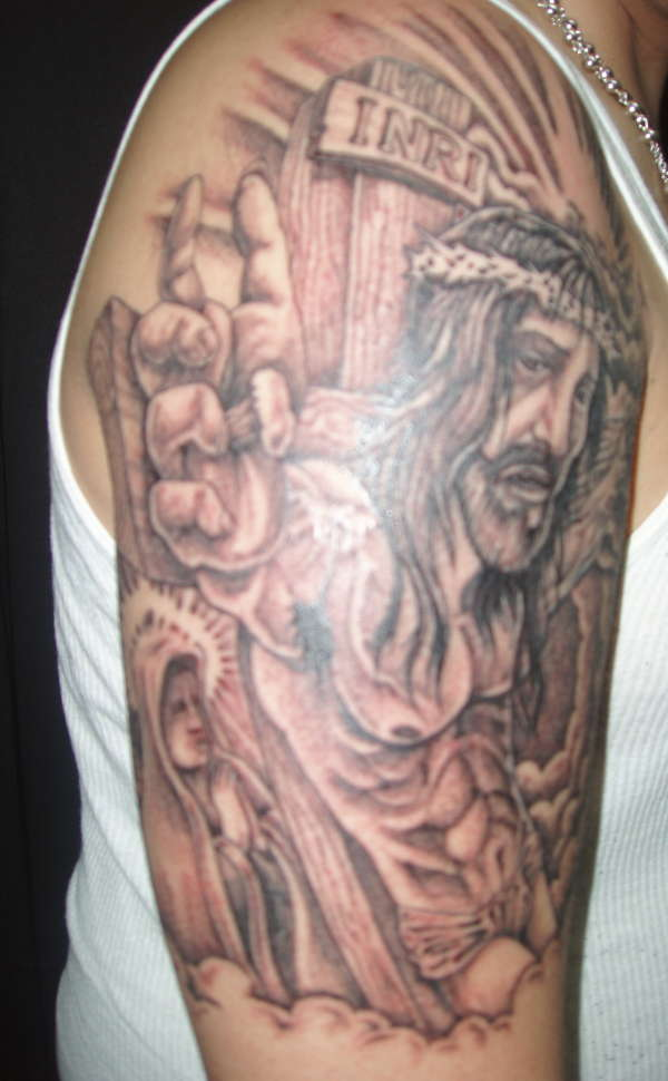 Christian Sleeve Tattoos Gallery