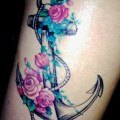 Navy anchor tattoo girls old school navy tattoo on
