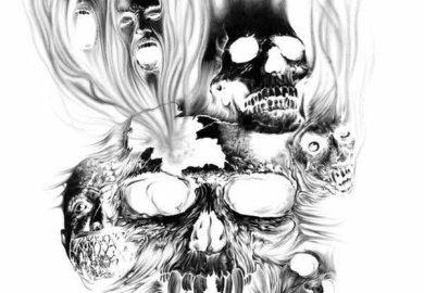 Aztec Skull Tattoo Designs