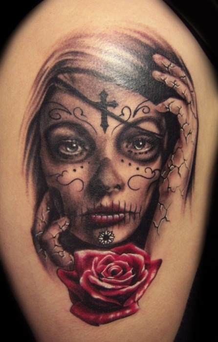 Sugar Skull Woman Tattoo
