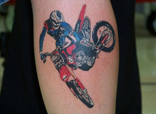 Tattoo De Motor De Moto