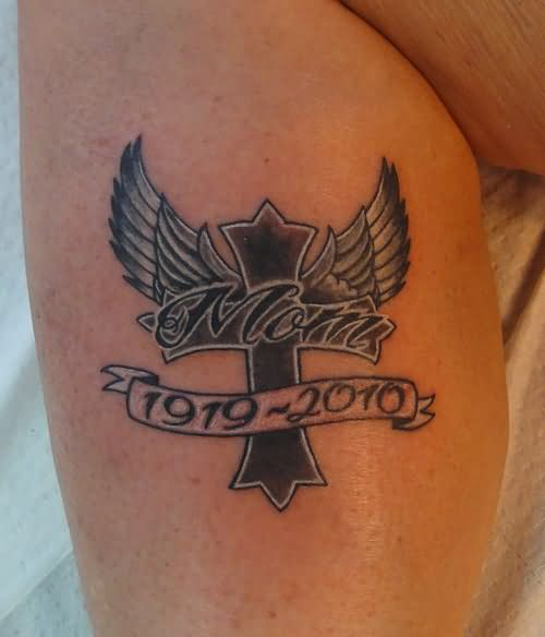 20 Heart And Cross Memorial Tattoos Ideas And Designs