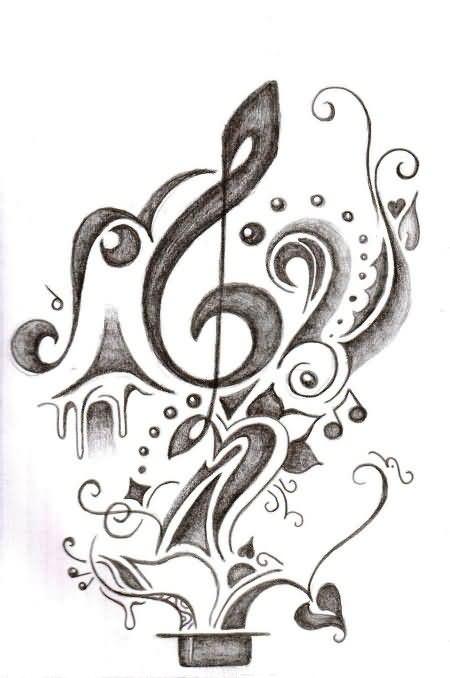 Music Tattoo Images & Designs