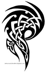 tribal celtic tattoo design