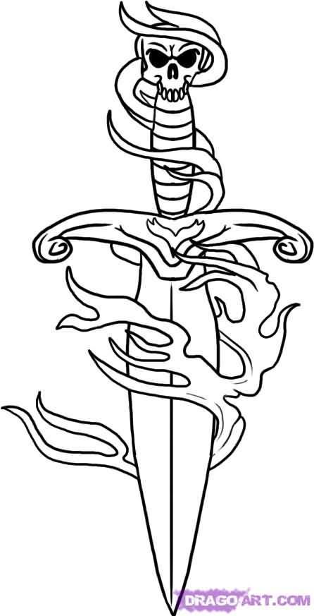 Dagger Tattoo Drawing