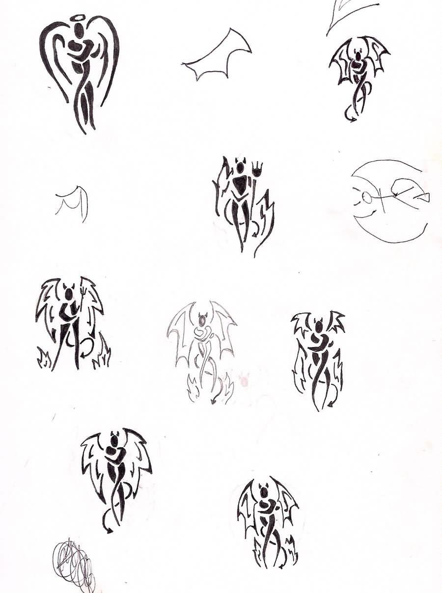Angel Demon Tattoo Design
