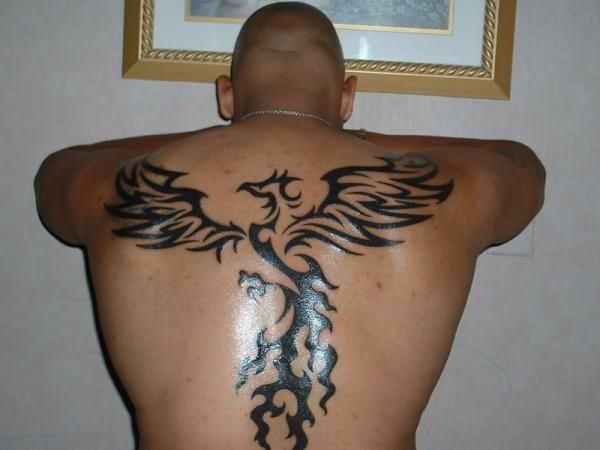 20 Men Full Back Phoenix Tattoo Ideas And Designs