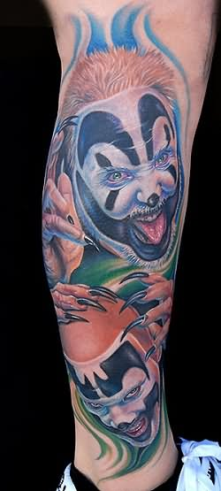 Insane Girl Drawing Wallpaper Clown Tattoo Images Amp Designs