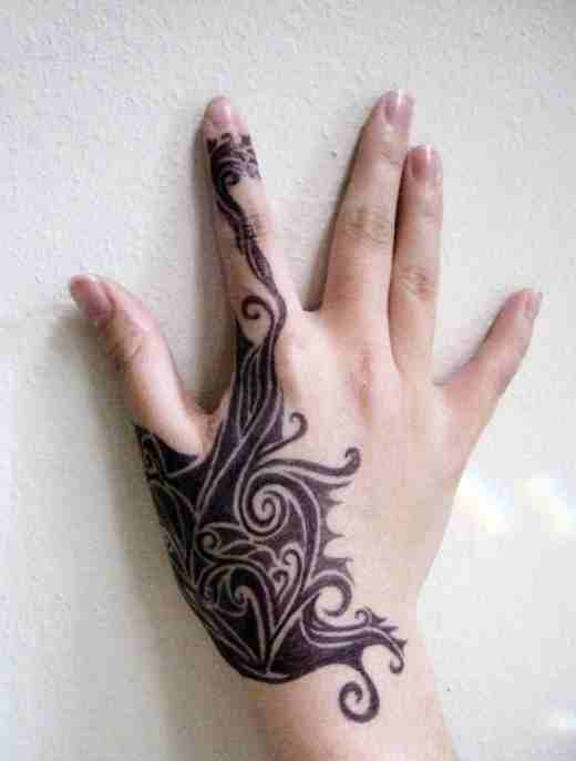 Tribal Hand Tattoos For Females