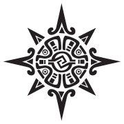 aztec tribal sun tattoo design