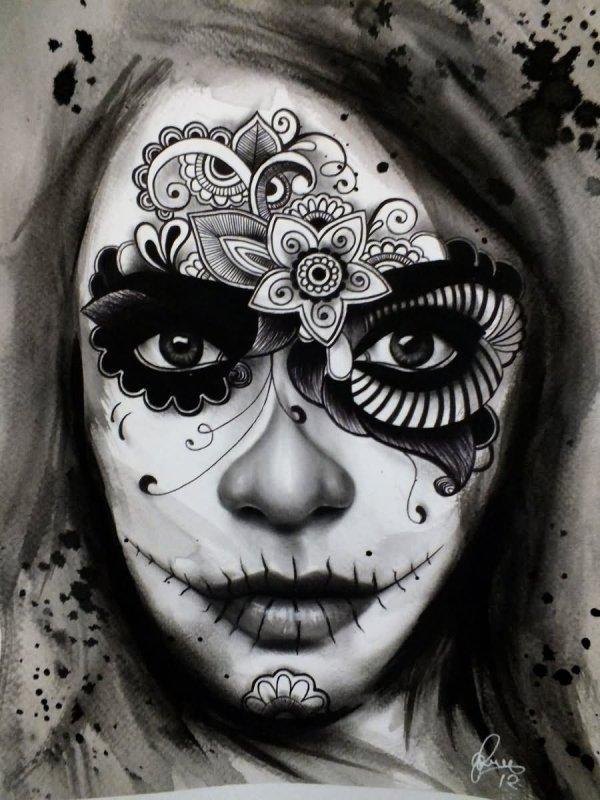 Day Of Dead Tattoo & Design