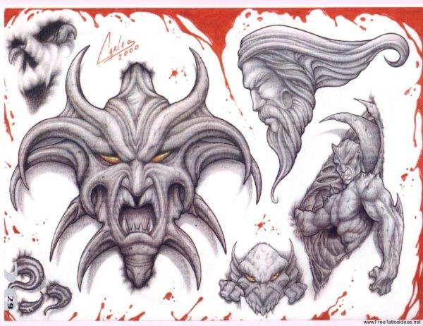 1c6e30539 Tribal Tatto: Demon Dragon Tribal Tattoo Designs