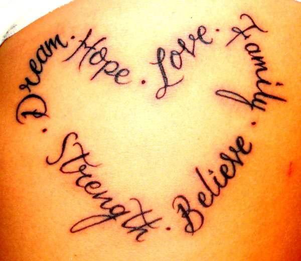 word tattoo & design