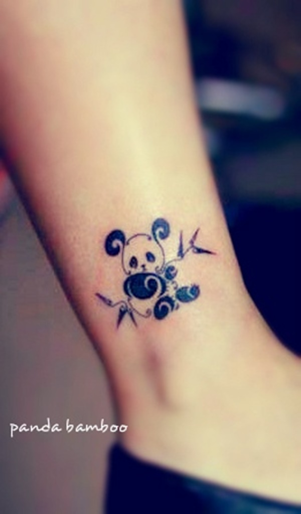 Cute Owl In Night Ankle Tattoo