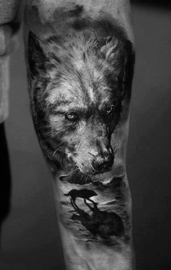 Black Wolf Tattoo Sleeve