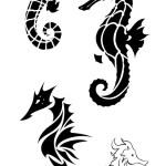 Amazing Seahorse Tattoo Design