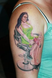 hairstylist tattoos