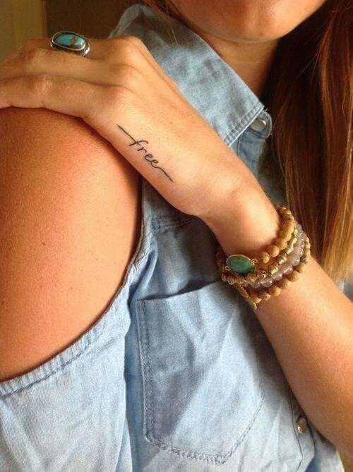 Tattoo Schriftzug: free