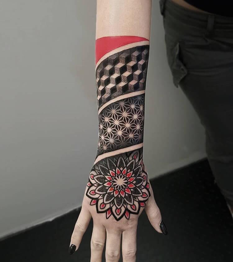 Tattoo 3d Mandala Wuerfel