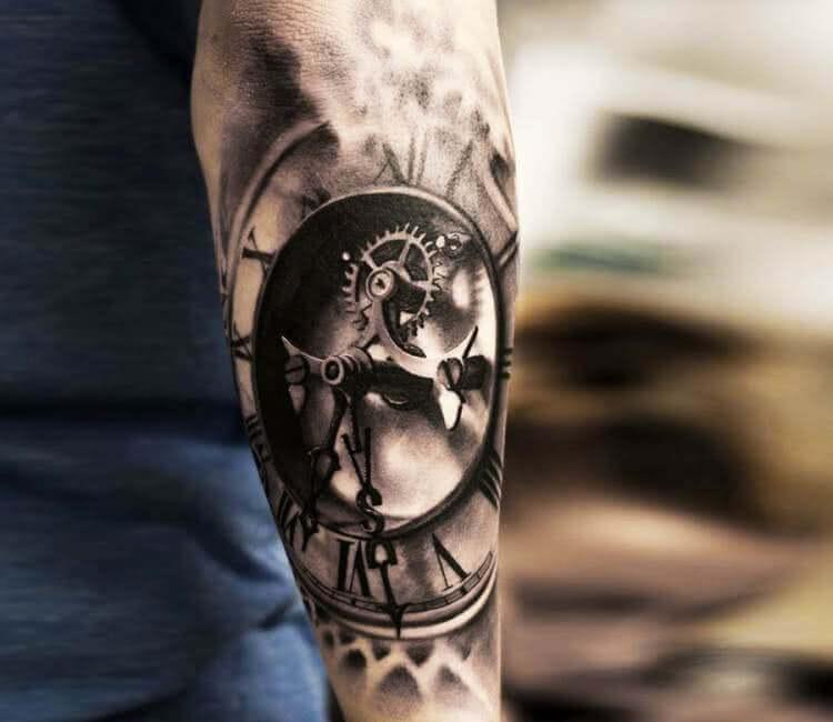 Tattoo 3D Uhrwerk
