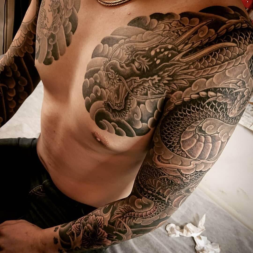 Tattoo Armsleeve chinesischer Drache