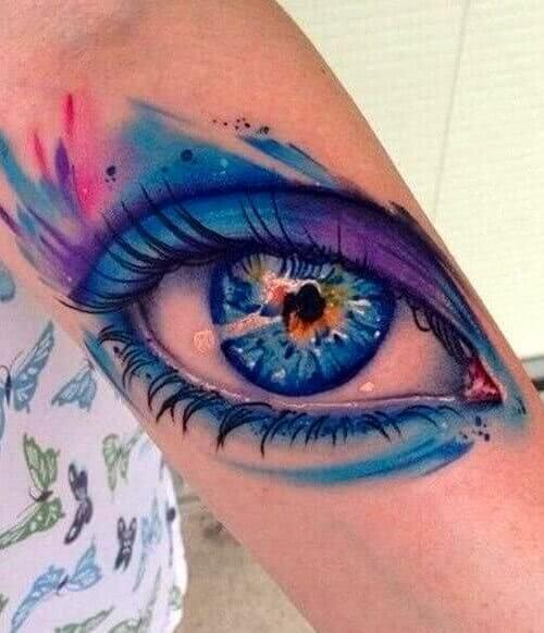 Tattoo Auge Aquarell