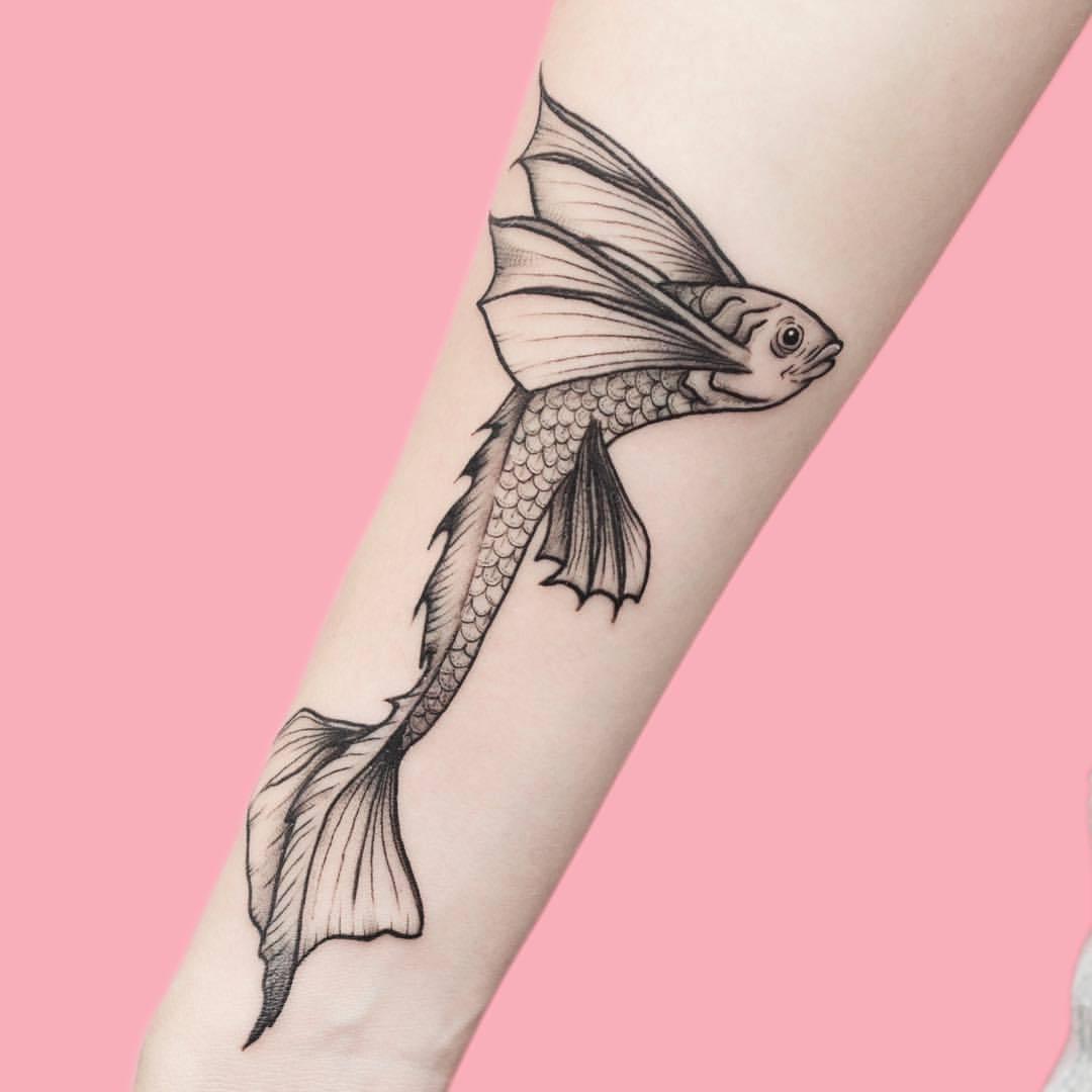 Tattoo Fliegender Fisch